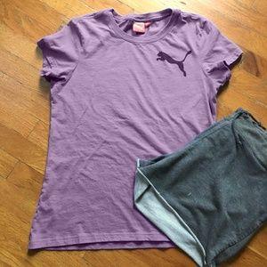 Puma Sport Lifestyle Purple Ladies T Shirt Size XL